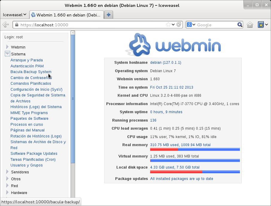 bacula webmin 1