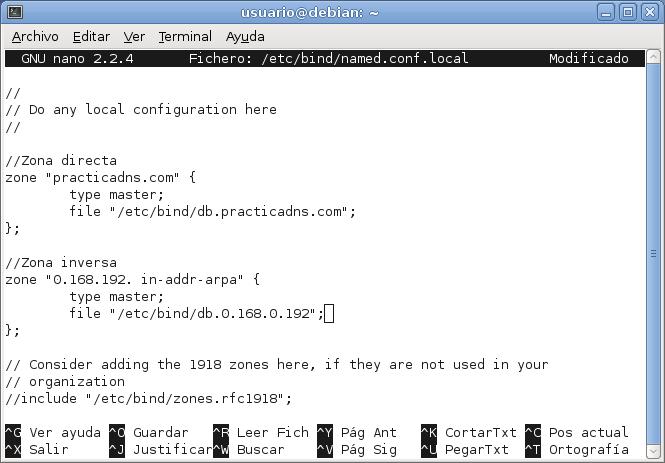 Servidor DNS en Debian Squeeze