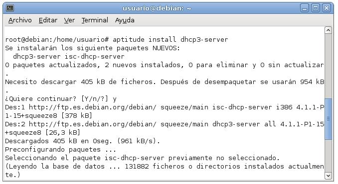servidor dhcp en debian 1