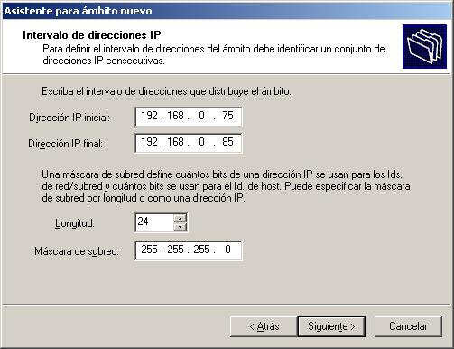 servidor dhcp en windows 9