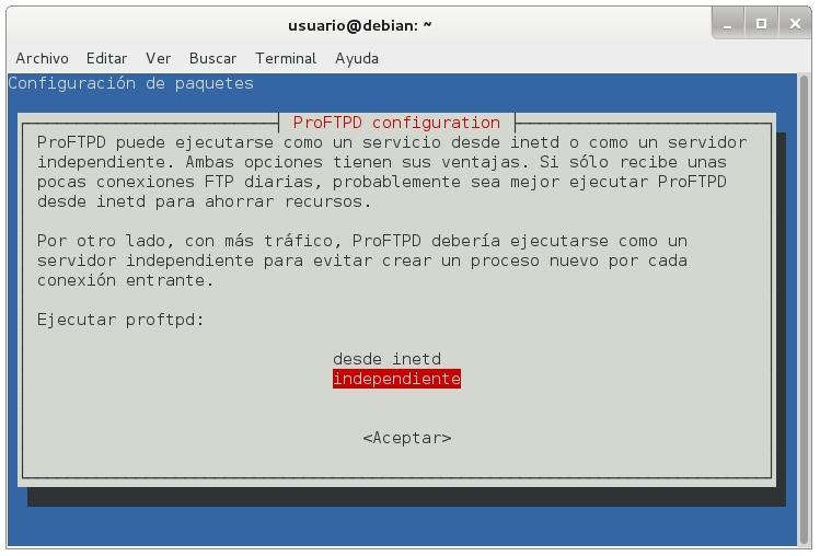 servidor ftp proftpd 1