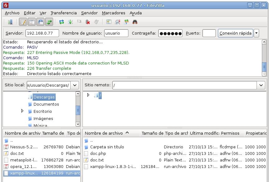 servidor ftp proftpd 11
