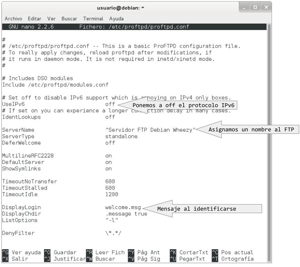 configuracion servidor ftp proftpd 2