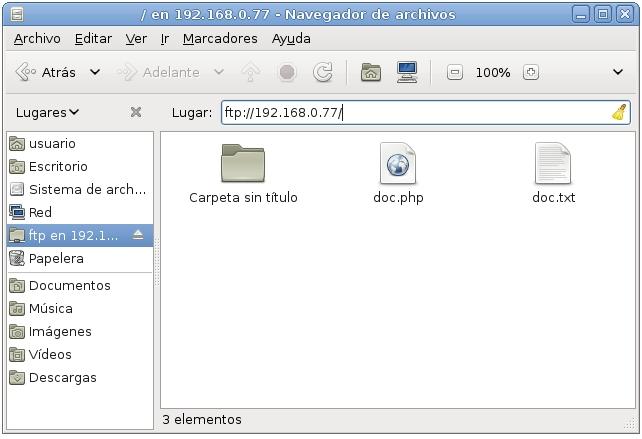 servidor ftp proftpd 6