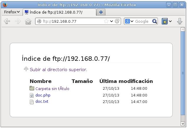 servidor ftp proftpd 7
