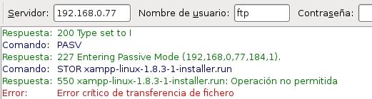 servidor ftp proftpd 9
