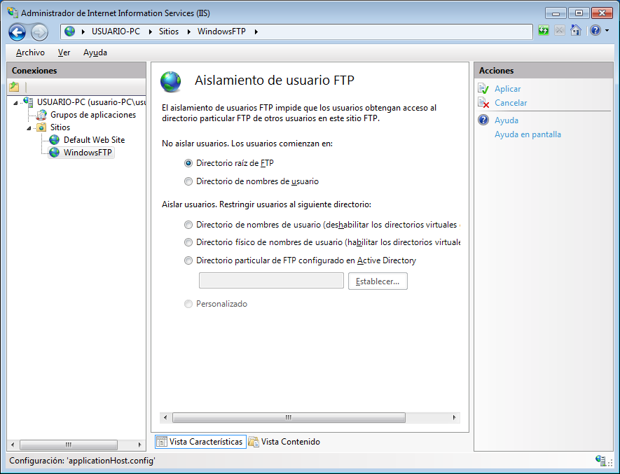 servidor ftp en windows 10