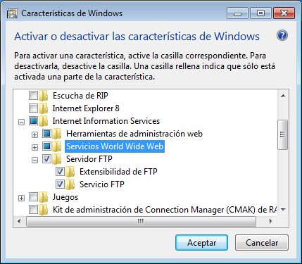 servidor ftp windows 2