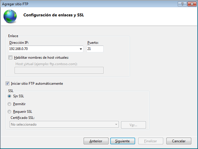 servidor ftp en windows 7