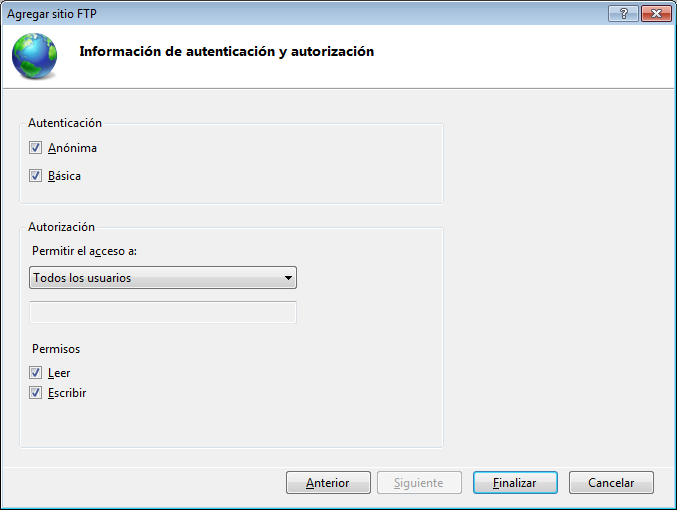 servidor ftp en windows 8