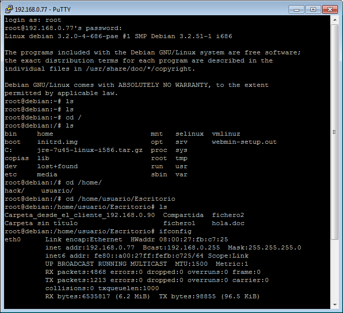 servidor ssh en debian 11