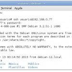 Servidor SSH en Debian Wheezy