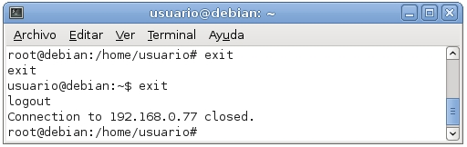 servidor ssh en debian 9