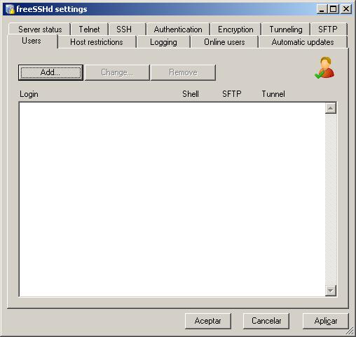 ssh en windows 7
