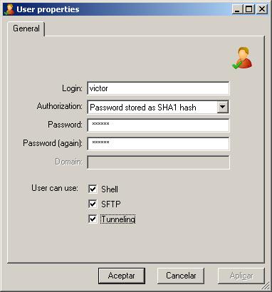 ssh en windows 8