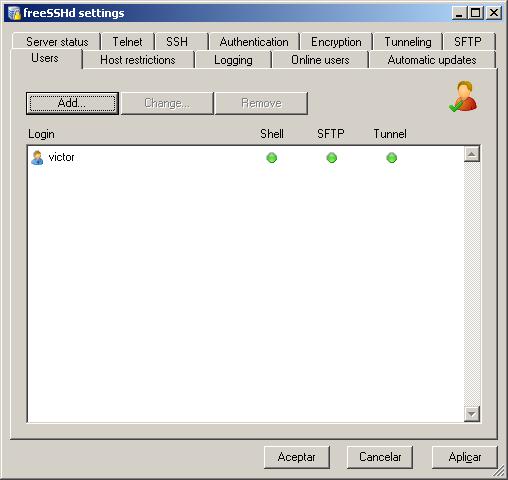 ssh en windows 9