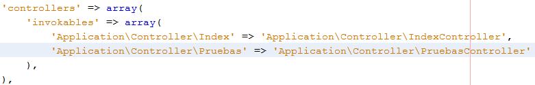 Controladores y vistas en Zend Framework 2 invokables