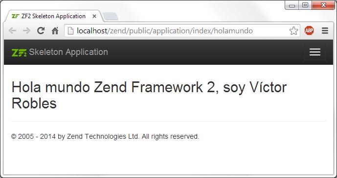 Hola mundo en Zend Framework 2