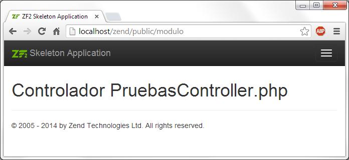 crear modulos en zend framework 2 viendo controlador