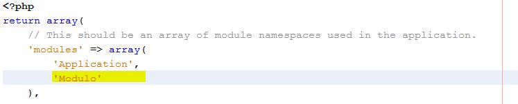 crear modulos en zend framework 2