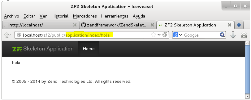 Instalar Zend Framework 2 en Lamp mod_rewrite
