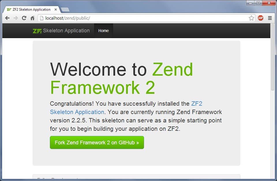 Welcome to Zend Framework 2