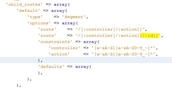 rutas y pasar valores por url en zend framework 2 segment