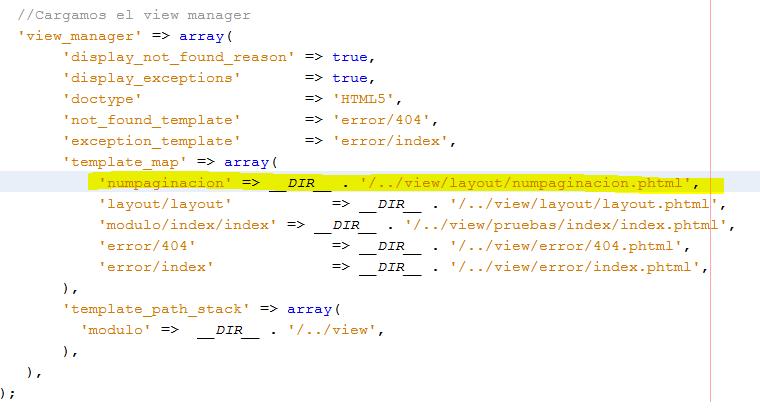 Paginación con Zend Framework 2 module.config.php