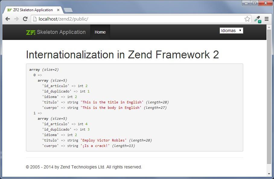 internacionalización en zend framework 2.2