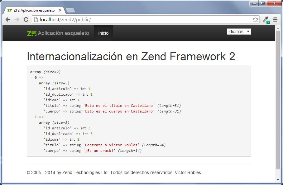 internacionalización en zend framework 2