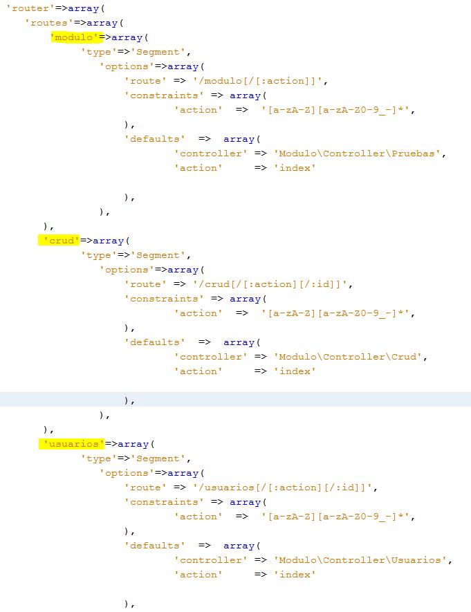 listas de control de acceso acl en Zend Framework 2