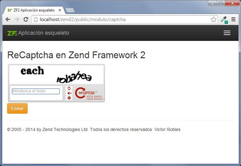 recaptcha en zend framework 2 2