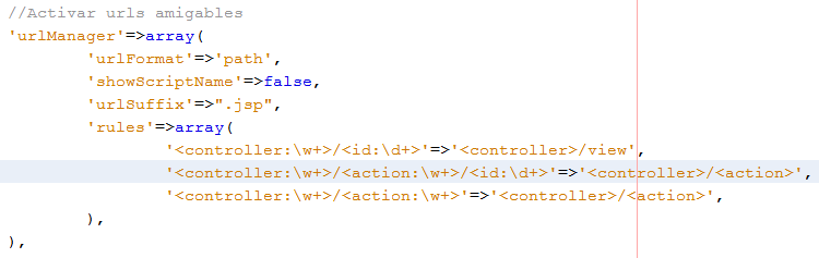 urls amigables en yii framework url manager