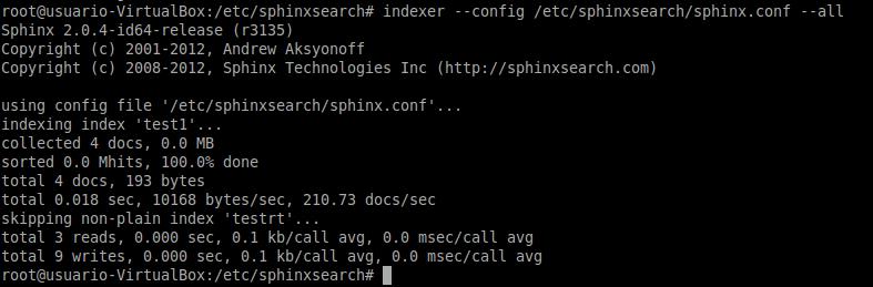 instalar sphinx search engine en Ubuntu