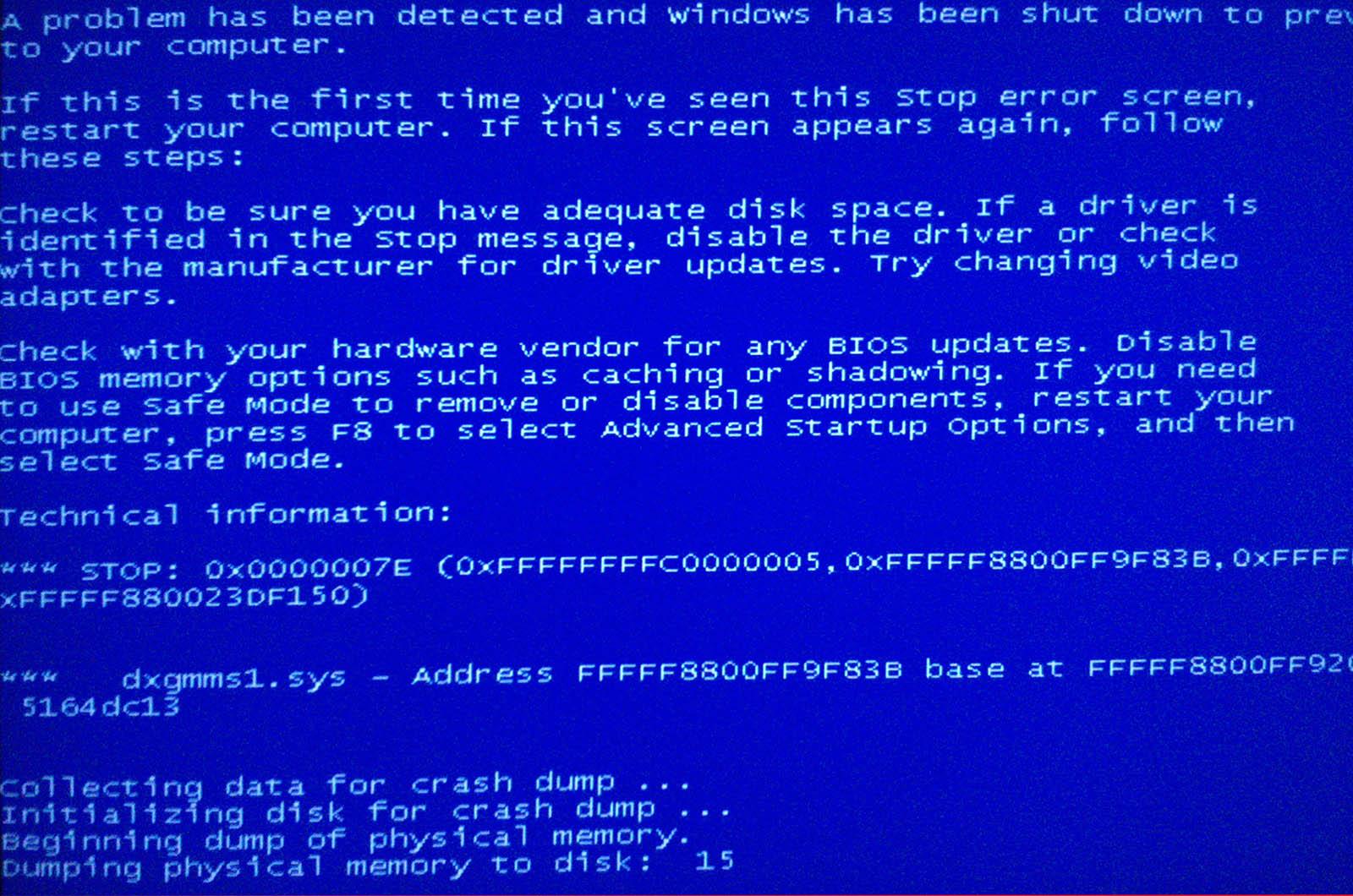 solucion pantallazo azul mientras juego dxgmms1.sys