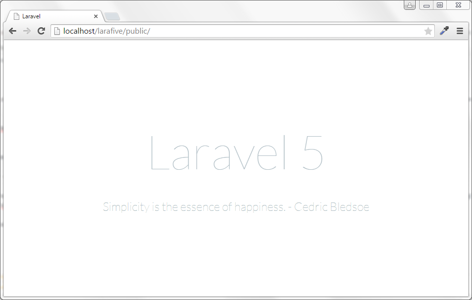 Instalar Laravel 5 Wellcome