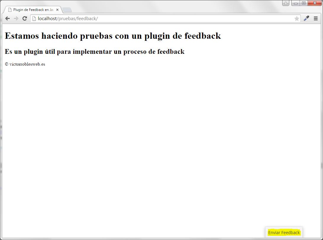 Plugin de feedback en Javascript y PHP