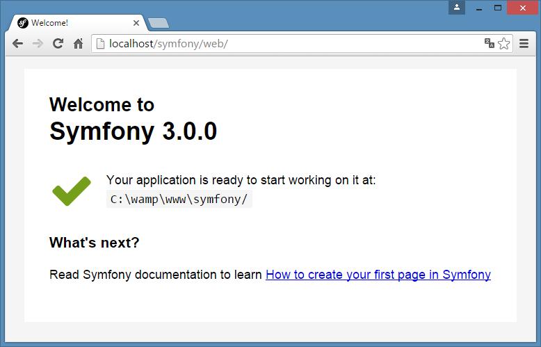 Instalar Symfony3 localhost