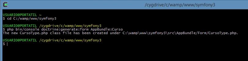 crear formularios en symfony3 doctrine generate form