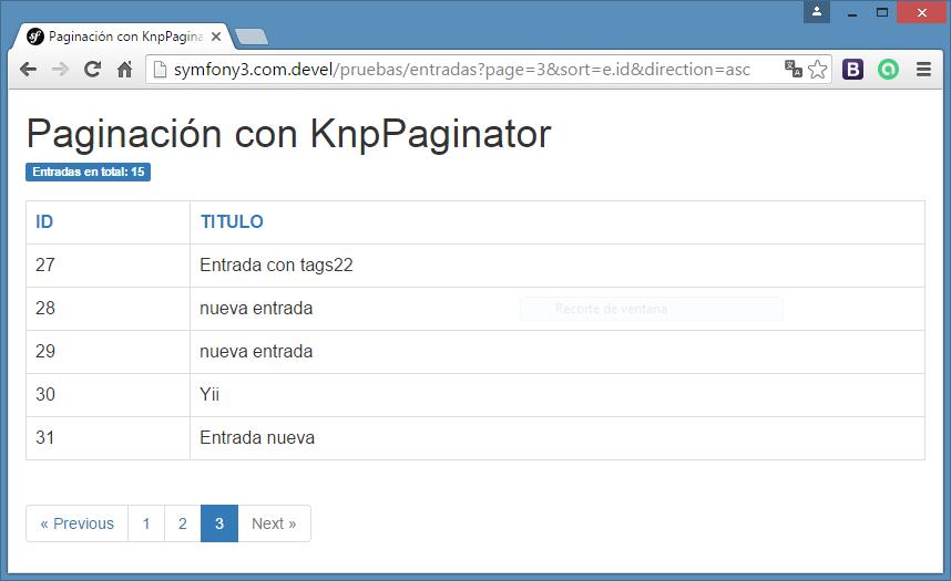 paginacion con knppaginatorbundle en symfony3
