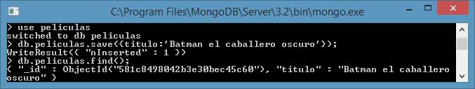 Como crear una base de datos en MongoDB