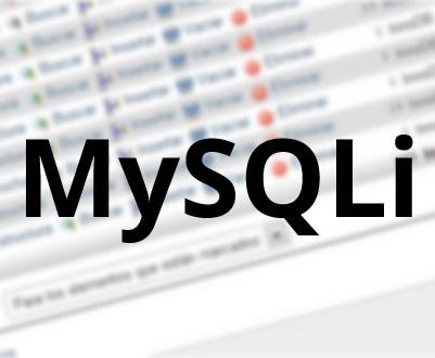 La extensión MySQLi en PHP