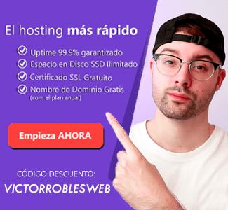 Hosting recomendado por Víctor Robles WEB